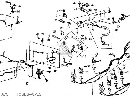 Honda Accord 1987 (h) 4dr Lxi (ka) parts list partsmanual
