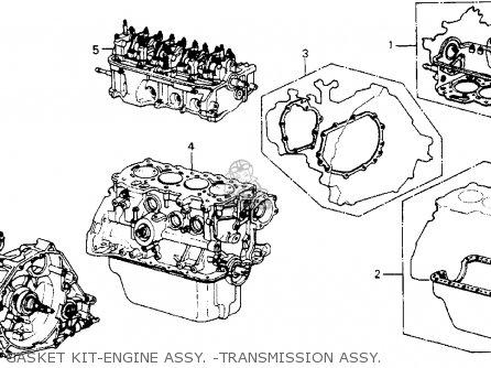 Honda Accord 1988 4dr Dx (ka) parts list partsmanual