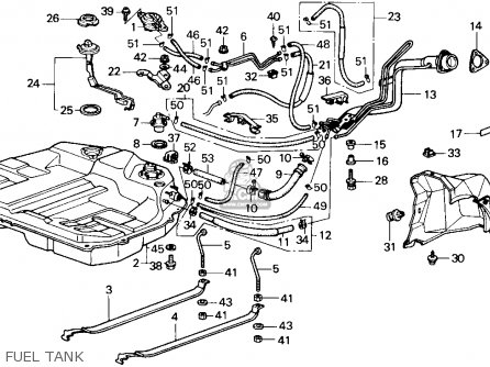 Honda Accord 1988 4dr Lx (ka,kl) parts list partsmanual