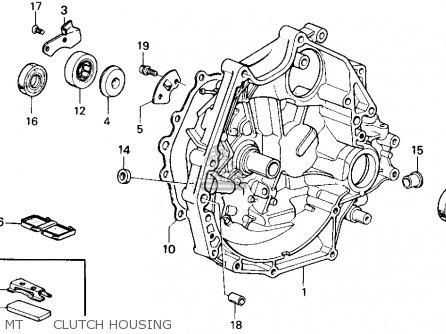 Honda Accord 1988 (j) 4dr Lxi (ka) parts list partsmanual
