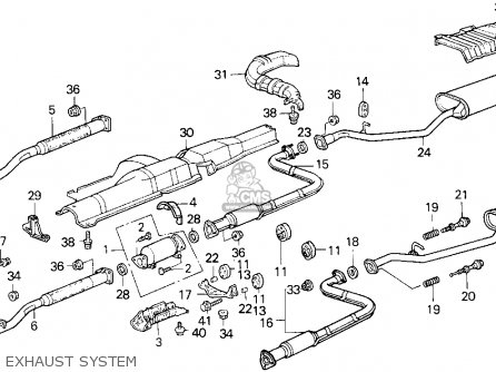 1989 Honda accord muffler