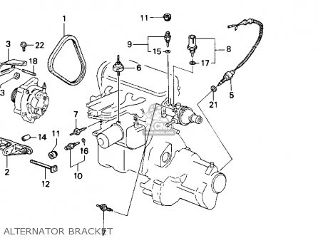 Honda Accord 1989 4dr Lxi (ka) parts list partsmanual