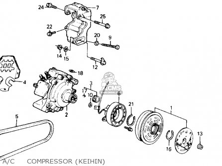 Honda Accord 1989 (k) 2dr Dx (ka,kl) parts list