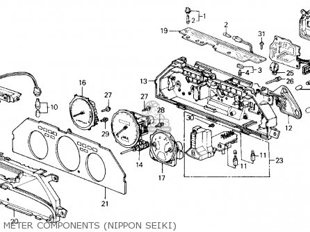 Honda Accord 1989 (k) 2dr Dx (ka,kl) parts list