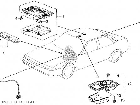Honda ACCORD 1989 (K) 2DR LXI (KA,KL) parts lists and