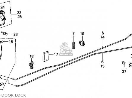 Honda ACCORD 1989 (K) 3DR LXI (KA,KL) parts lists and
