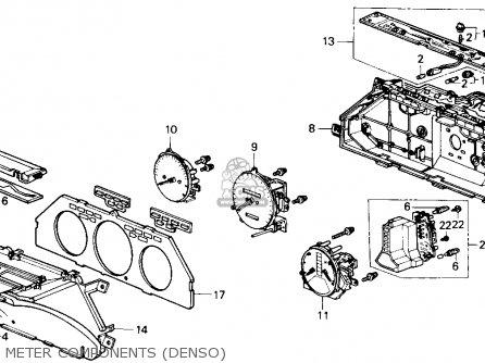 Honda ACCORD 1989 (K) 4DR DX (KA) parts lists and schematics