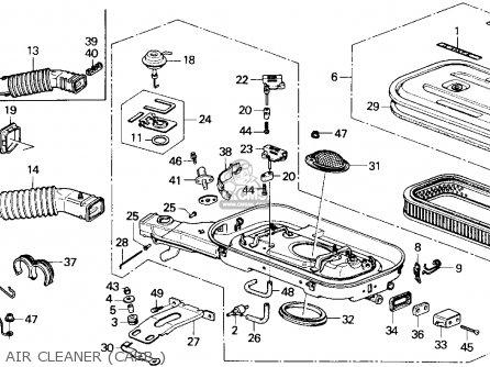 Honda ACCORD 1989 (K) 4DR LX (KA) parts lists and schematics