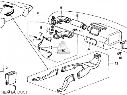 Honda Accord 1989 (k) 4dr Lx (ka,kl) parts list