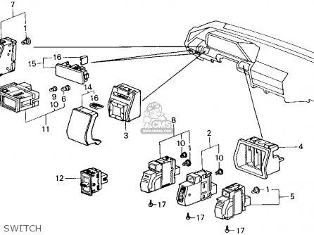 Honda ACCORD 1989 (K) 4DR LX (KA,KL) parts lists and