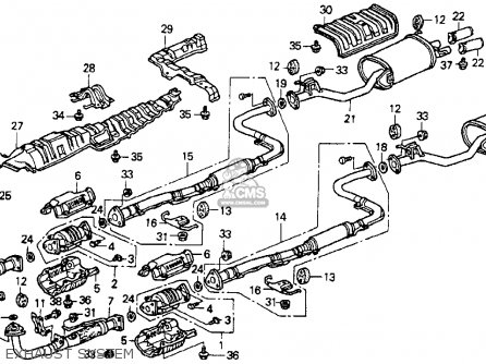 Honda Accord 1990 2dr Dx (ka,kl) parts list partsmanual