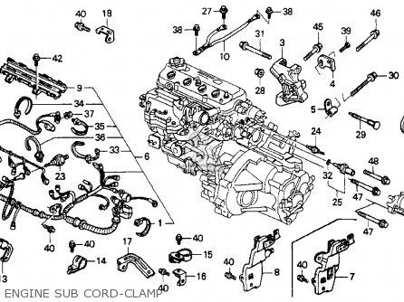 Honda Accord 1990 2dr Ex (ka,kl) parts list partsmanual
