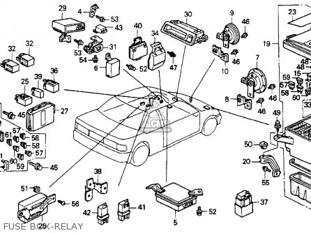 Honda Accord 1990 2dr Ex (ka,kl) parts list partsmanual