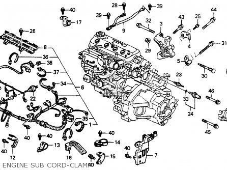 Honda Accord 1990 4dr Lx (ka,kl) parts list partsmanual
