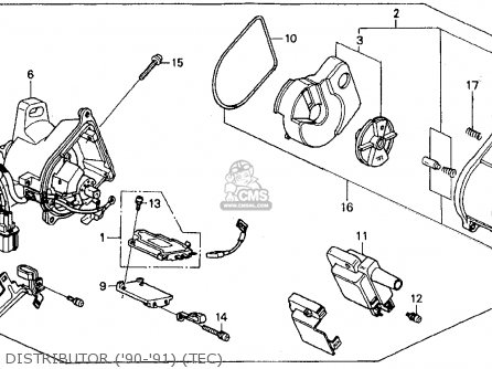 Honda Accord 1990 (l) 2dr Dx (ka,kl) parts list