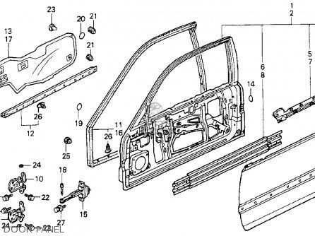 Honda Accord 1990 (l) 2dr Dx (ka,kl) parts list