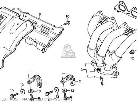 Honda Accord 1990 (l) 2dr Ex (ka,kl) parts list