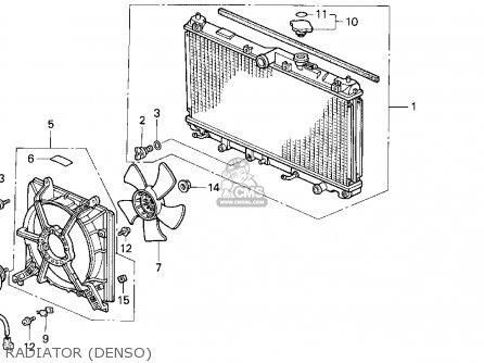 Honda ACCORD 1990 (L) 2DR EX (KA,KL) parts lists and