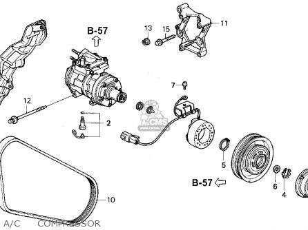 Honda Accord 1991 2dr Dx ka kl A c Compressor