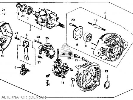 Honda Accord 1991 4dr Ex (ka,kl) parts list partsmanual
