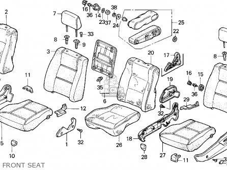 Honda Accord 1991 4dr Se (ka,kl) parts list partsmanual