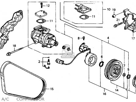Honda ACCORD 1991 (M) 4DR EX (KA,KL) parts lists and