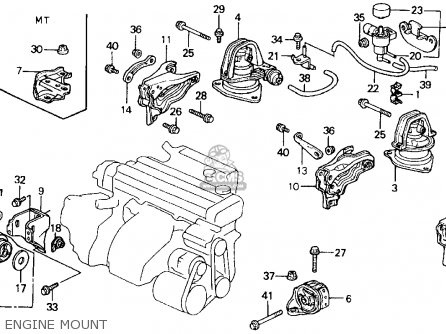 Honda Accord 1992 2dr Lx (ka,kl) parts list partsmanual