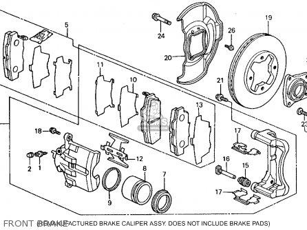 Honda Accord 1992 (n) 2dr Ex (ka,kl) parts list
