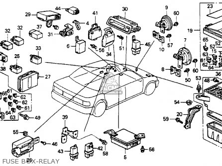 Honda ACCORD 1992 (N) 4DR EX (KA,KL) parts lists and