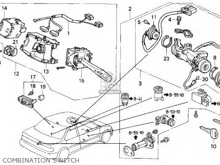 Honda Accord 1993 2dr Dx (ka,kl) parts list partsmanual