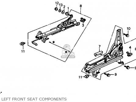 Honda Accord 1993 (p) 4dr Ex (ka,kl) parts list