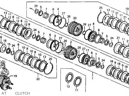 Honda ACCORD 1993 (P) 4DR LX (KA,KL) parts lists and