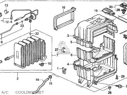 Honda Accord 1995 2dr Ex (ka,kl) parts list partsmanual
