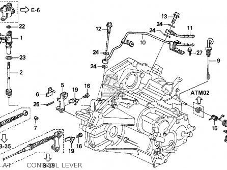 Honda ACCORD 1995 (S) 2DR EX (KA,KL) parts lists and