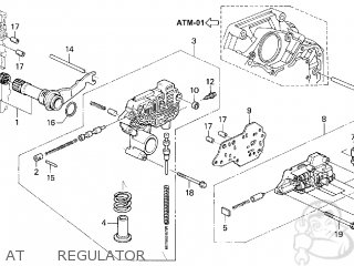 Honda ACCORD 1996 (T) 2DR EX (KA,KL) parts lists and