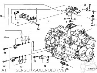 1998 Honda accord lockup solenoid valve a fault