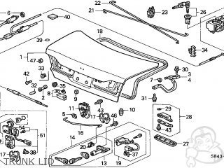 Honda Accord 1998 4dr Ex Sul (kl,ka) parts list