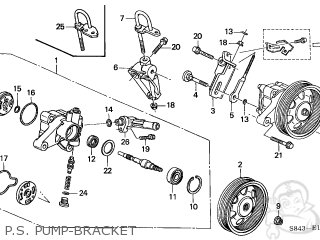 Honda Accord 1999 4dr Lx V6 (ka,kl) parts list partsmanual