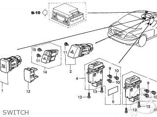 Honda ACCORD COUPE 2005 (5) 2DR SE V6 (KA,KL) parts lists