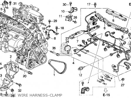 Honda Accord E2/v-6 E2 1994 4dr Dx (ka,kl) parts list