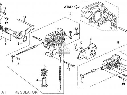 Honda Accord E2/v-6 E2 1994 (r) 4dr Ex (ka,kl) parts list
