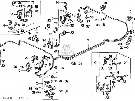 Honda Accord E2/v-6 E2 1995 4dr Dx (ka,kl) parts list