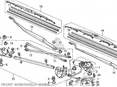 Honda Accord E2/v-6 E2 1995 4dr Ex (ka,kl) parts list
