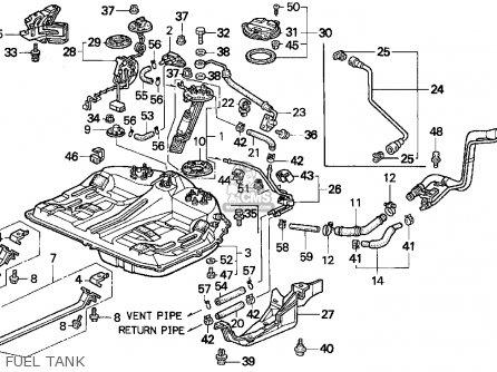Honda Accord E2/v-6 E2 1995 4dr Ex V-6 (ka,kl) parts list