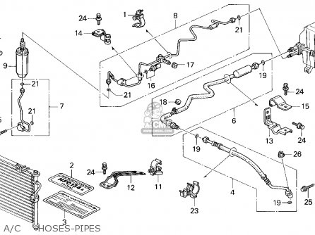 Honda Accord E2/v-6 E2 1995 4dr Lx Abs (ka) parts list