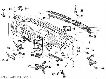 Honda Accord Wagon 1993 Wgn Ex (ka,kl) parts list
