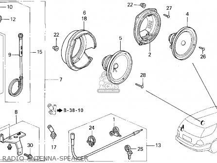 Honda ACCORD WAGON 1995 (S) WGN LX (KA,KL) parts lists and