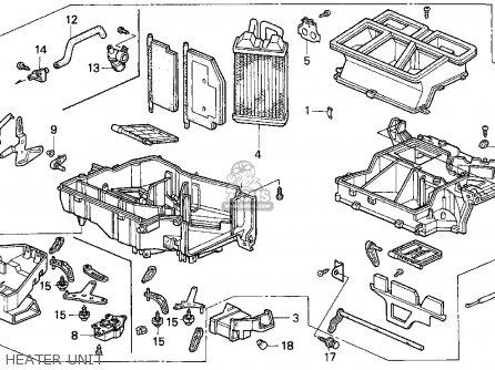 Honda Accord Wagon 1995 Wgn Lx (ka,kl) parts list