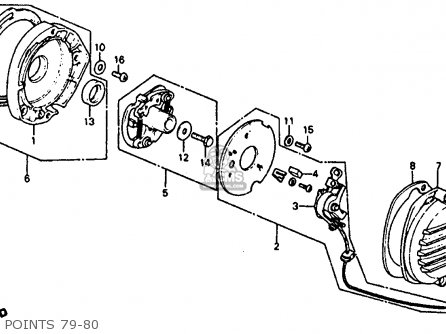 Honda Atc110 1979 (z) Usa parts list partsmanual partsfiche
