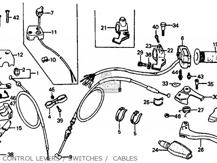 Honda ATC110 1980 (A) USA parts lists and schematics